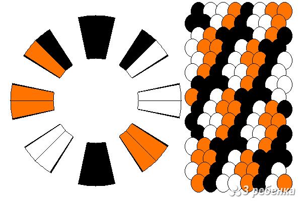 Схема фенечки кумихимо 34282