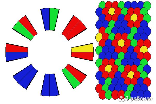 Схема фенечки кумихимо 34253