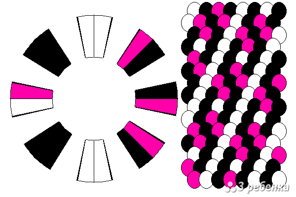Схема фенечки кумихимо 34295