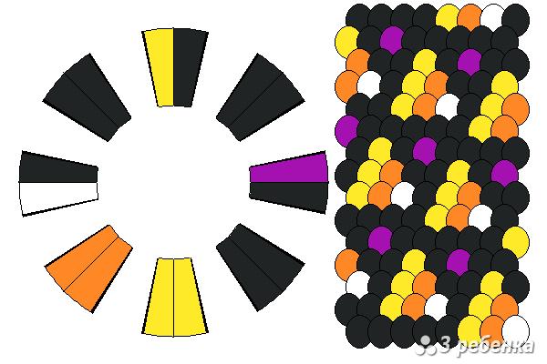 Схема фенечки кумихимо 34237