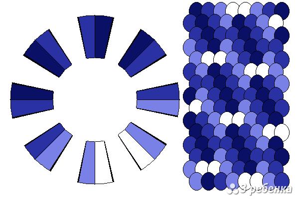 Схема фенечки кумихимо 34233