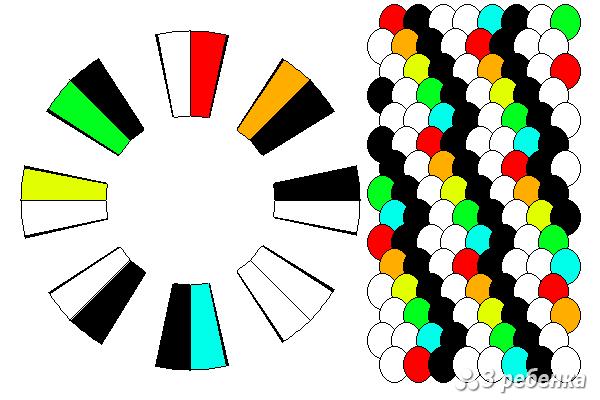 Схема фенечки кумихимо 34273