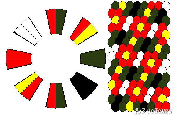 Схема фенечки кумихимо 34229