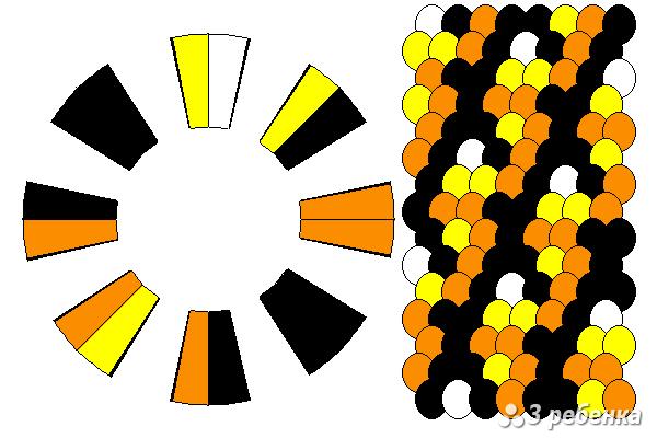 Схема фенечки кумихимо 34308