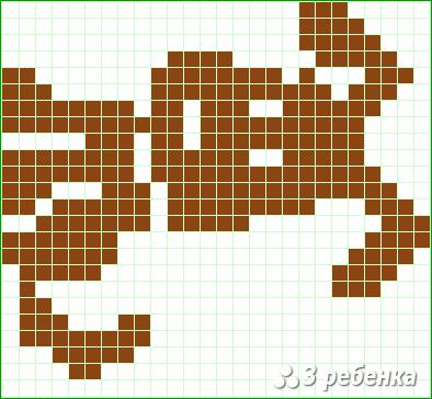 Схема фенечки прямым плетением 34090