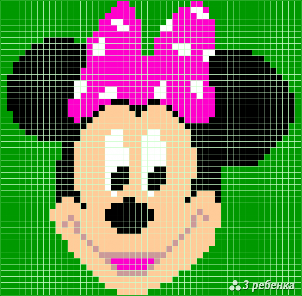 Схема фенечки прямым плетением 34113