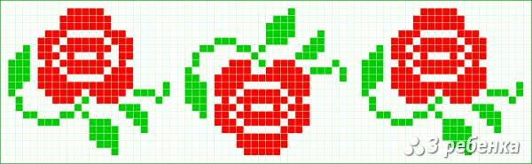 Схема фенечки прямым плетением 34129