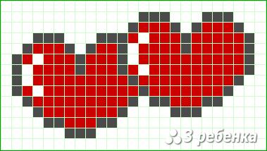 Схема фенечки прямым плетением 34050
