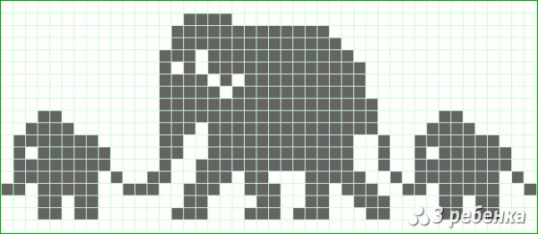 Схема фенечки прямым плетением 34067