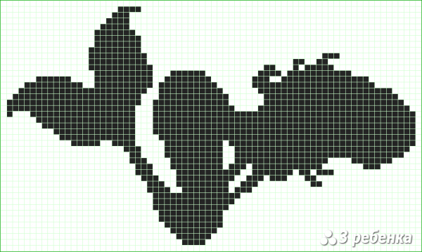 Схема фенечки прямым плетением 34020