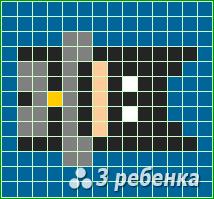 Схема фенечки прямым плетением 34037