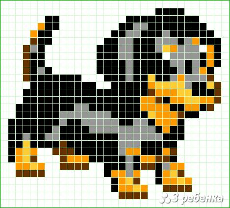 Схема фенечки прямым плетением 34026