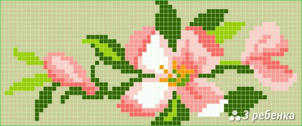 Схема фенечки прямым плетением 34083