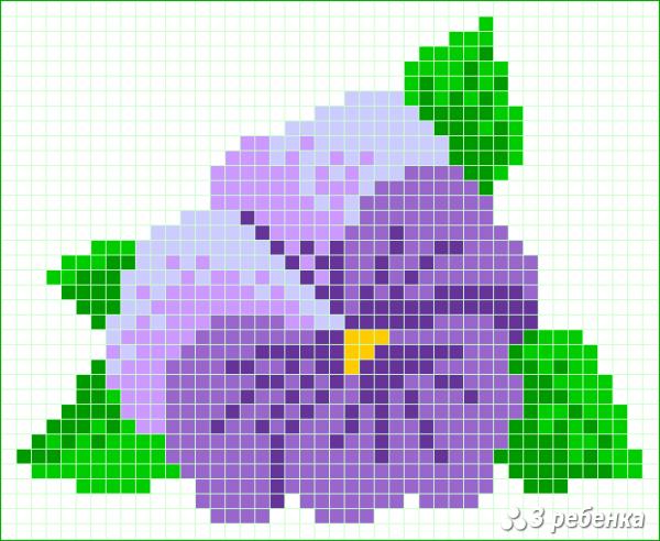 Схема фенечки прямым плетением 34078