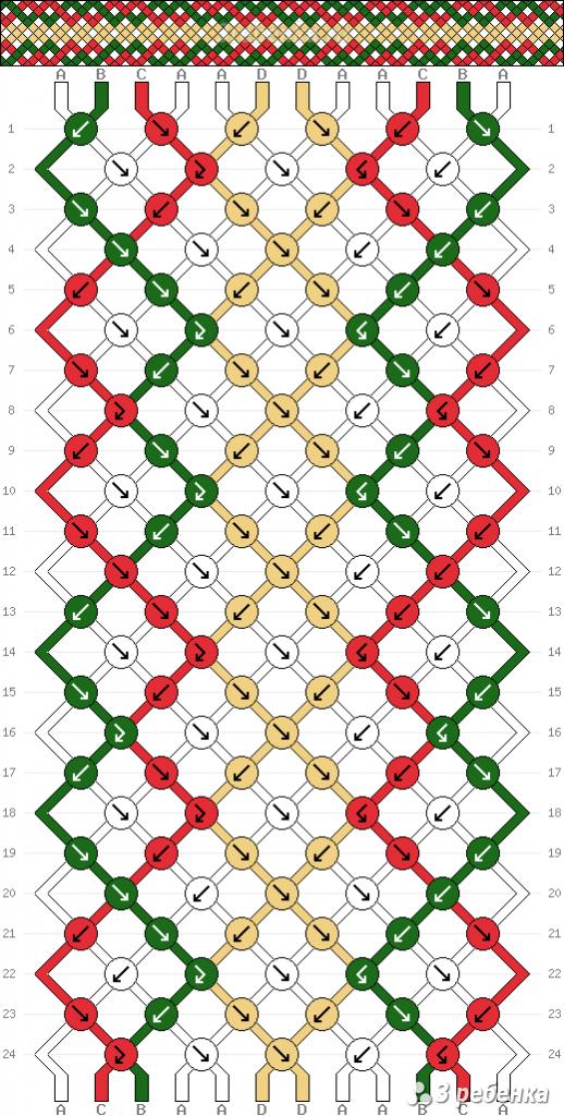 Схема фенечки 34428