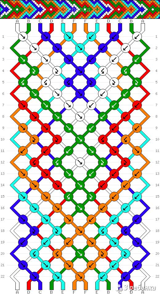 Схема фенечки 34454