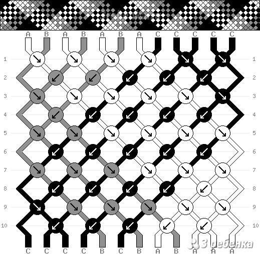 Схема фенечки 34458