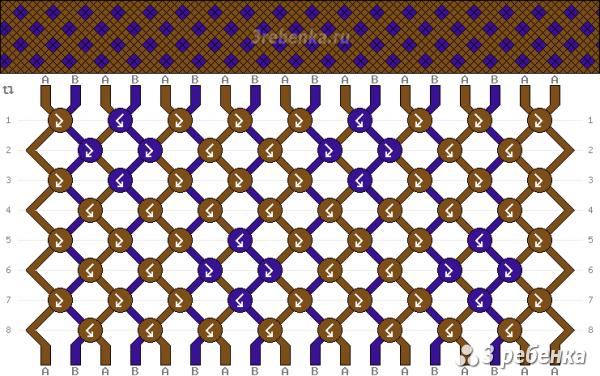 Схема фенечки 34470