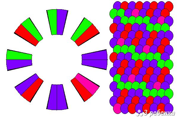 Схема фенечки кумихимо 34392