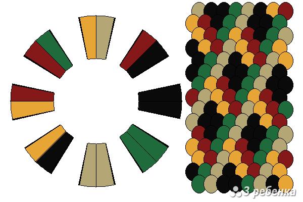 Схема фенечки кумихимо 34378