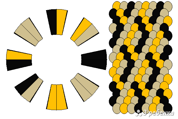 Схема фенечки кумихимо 34373