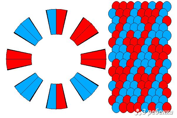 Схема фенечки кумихимо 34368
