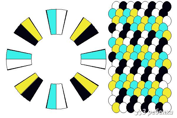 Схема фенечки кумихимо 34364