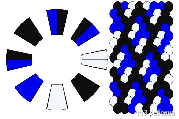 Схема фенечки кумихимо 34352