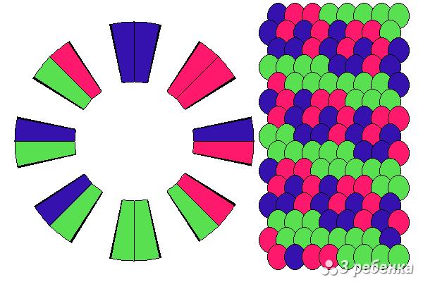 Схема фенечки кумихимо 34344