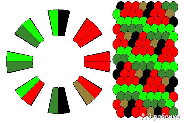 Схема фенечки кумихимо 34340