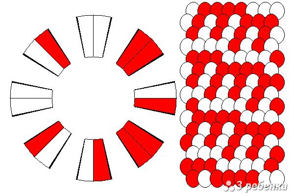 Схема фенечки кумихимо 34332
