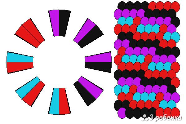 Схема фенечки кумихимо 34316