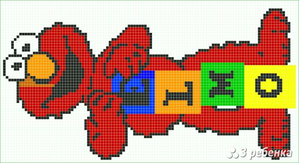 Схема фенечки прямым плетением 34190
