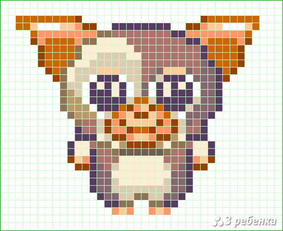 Схема фенечки прямым плетением 34220