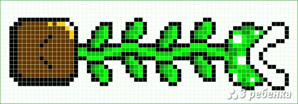 Схема фенечки прямым плетением 34205