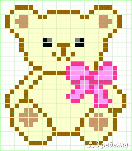 Схема фенечки прямым плетением 34160
