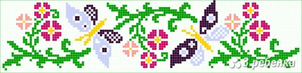 Схема фенечки прямым плетением 34140