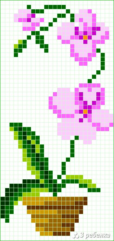 Схема фенечки прямым плетением 34145