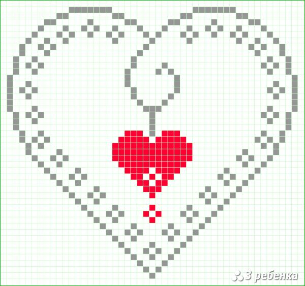 Схема фенечки прямым плетением 34165