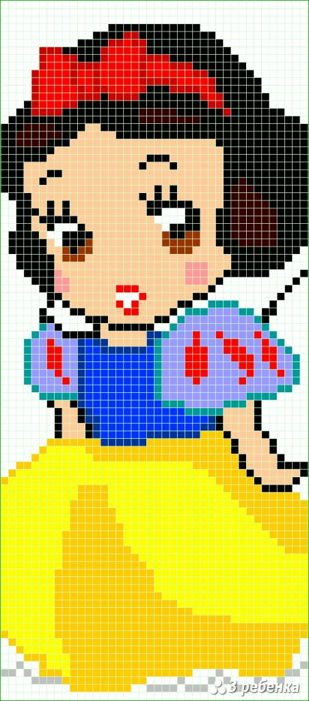 Схема фенечки прямым плетением 34170