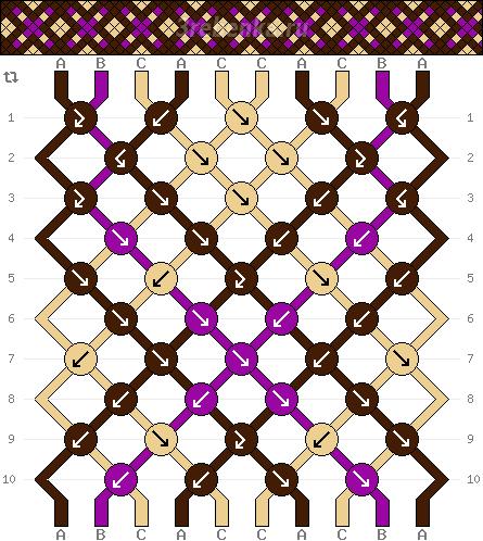Схема фенечки 34524