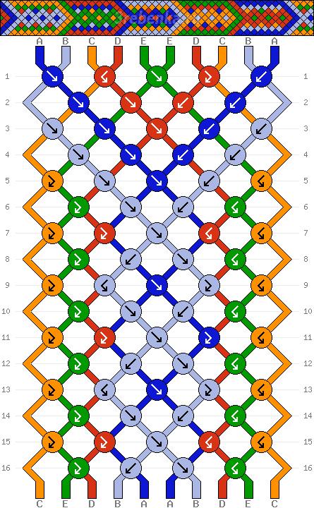 Схема фенечки 34532