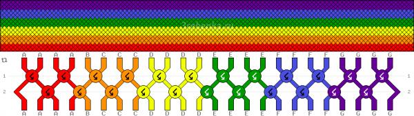 Схема фенечки 34536