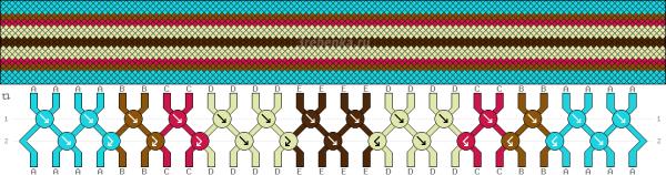 Схема фенечки 34556