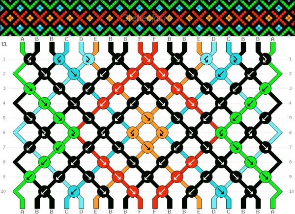 Схема фенечки 34574
