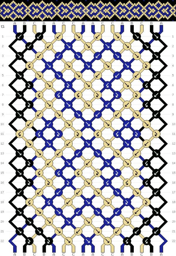 Схема фенечки 34682