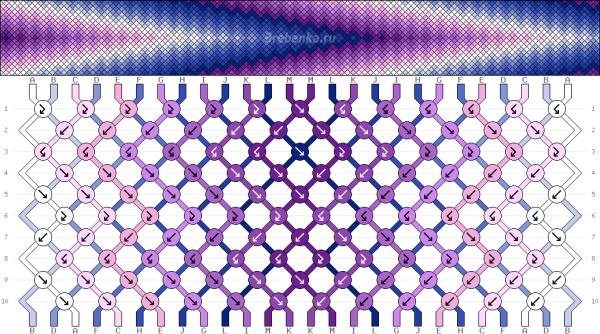 Схема фенечки 34730