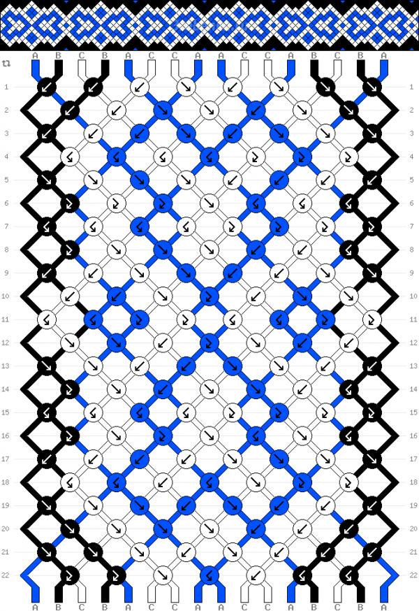 Схема фенечки 34746