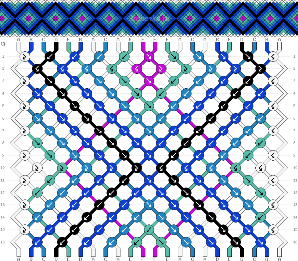 Схема фенечки 34754