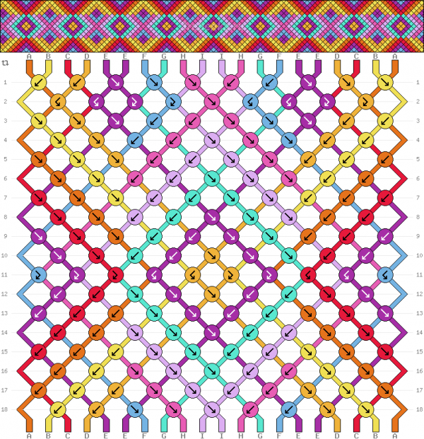 Схема фенечки 34884